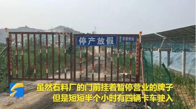 为应付环保检查,整座矿山被刷上绿漆