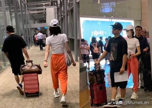 疑似郑恺苗苗恋情曝光,网友在新加坡机场偶遇郑恺与一名女子同行