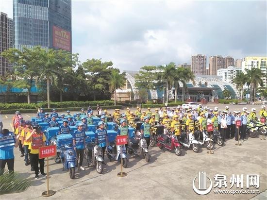 晋江实行外卖车辆监管模式管理 外卖车辆不敢乱冲乱闯了