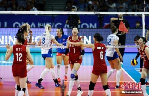 奧運女排資格賽現場清晰情況 奧運女排資格賽中國女排開門紅