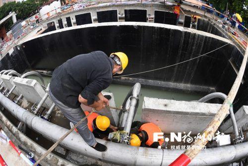 福州梅峰河地埋式污水处理站通水试运行