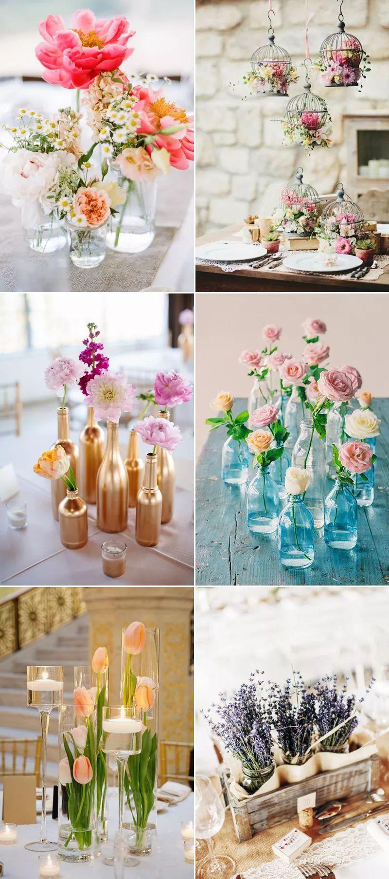 33種節省開銷的創意時尚桌花 打造夢幻婚禮