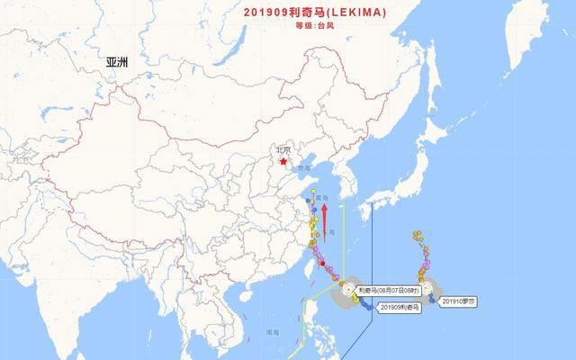 利奇马或加强到16级,山东第1个台风就是它?华东可能大范围暴雨