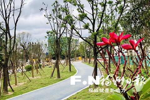 福州凤坂河串珠公园下周基本建成开放
