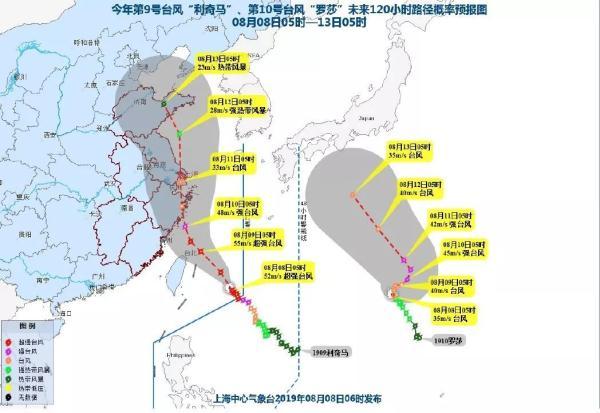 台风利奇马成风王 利奇马路径登陆浙江路线 2019台风路径实时发布系统
