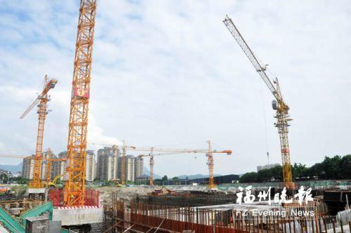 闽侯青口安置房二期地下室主体结构预计年底完成
