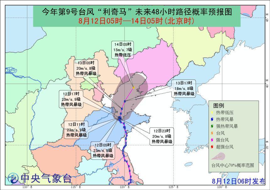 利奇马降雨分布实时,利奇马青岛登陆时间地点,山东台风最新情况 2