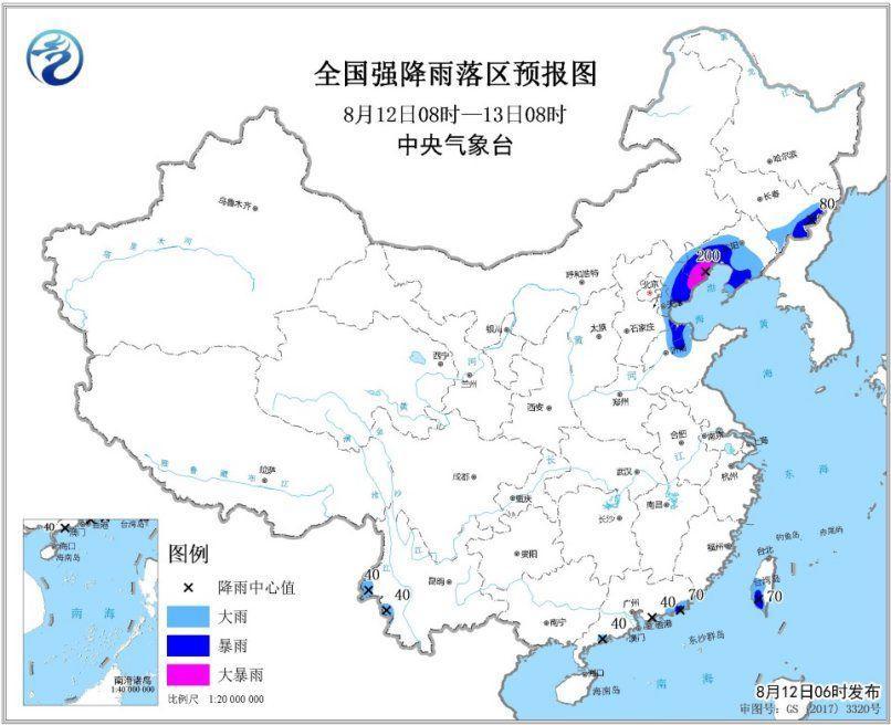 利奇马降雨分布实时,利奇马青岛登陆时间地点,山东台风最新情况(2)