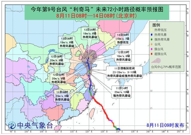 台风利奇马到哪了最新消息,9号台风利奇马形成过程及完整版路径图