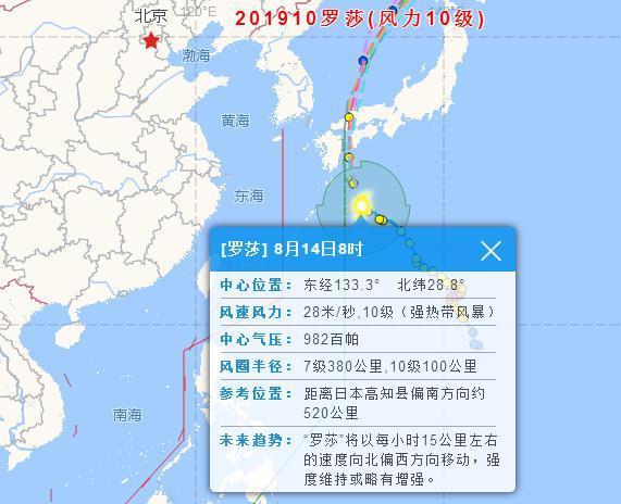 2019台风最新消息 第9号台风利奇马停Ψ止编号!第10号台风罗莎路径↑实时发布系统图最新更新