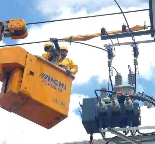 连江供电公司:高温开展带电作业 全力助跑畲乡风貌