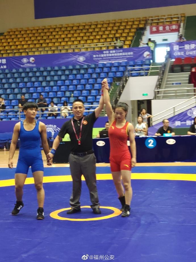 棒!连江特警张丽芳勇夺世界警察运动会摔跤比赛金牌