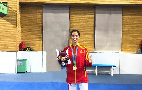 长乐运动员高楠菁获跆拳道女子49公斤级冠军