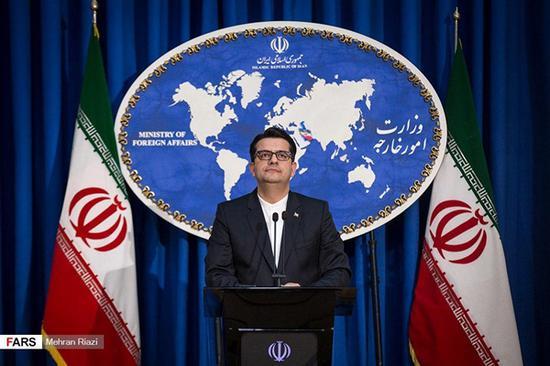 伊朗外交部发言人警告美方不要试图扣押油轮。(图:伊朗前线网)
