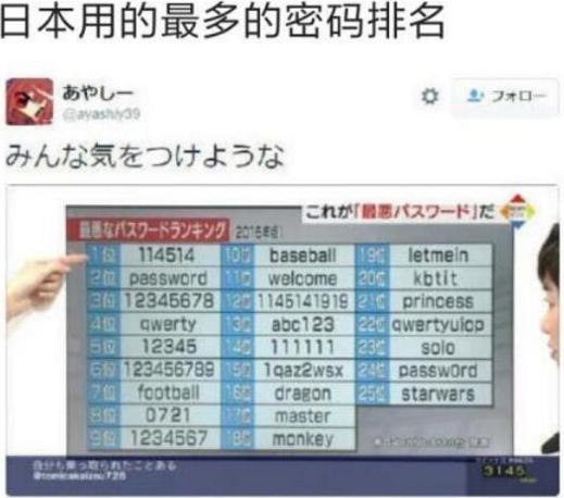 114514是什么梗日语是什么意思 日本密码114514出处