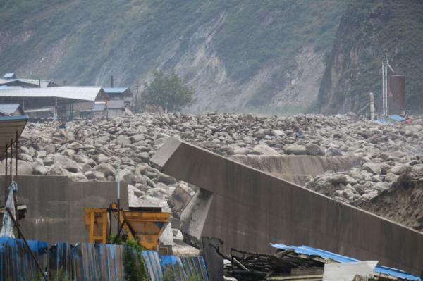 四川汶川发生山洪泥石流灾害