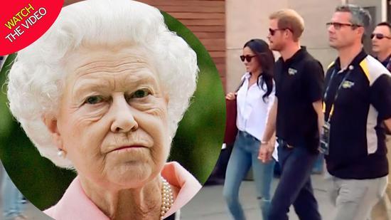 """英王妃梅根穿牛仔裤遭女王""""嫌弃""""。(图源:镜报)"""