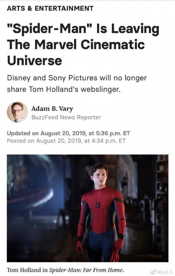 實錘!漫威索尼談崩!蜘蛛俠退出漫威電影宇宙MCU