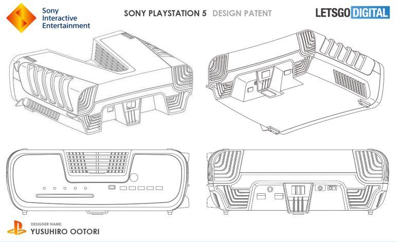 索尼PS5开发机专利申请图疑似泄露 深V造型奇特