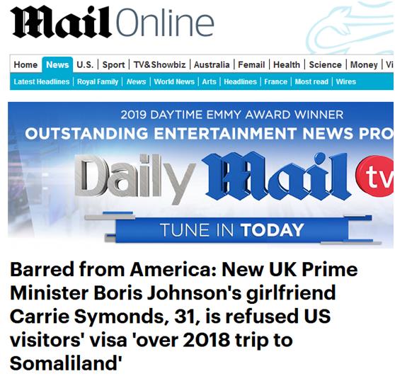 英首相女友赴美签证被拒怎么回事 英首相女友赴美签证为什么被拒