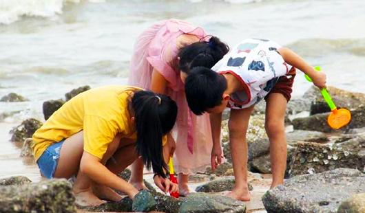 盛夏的曾厝垵海滩 斑斓如诗画一般