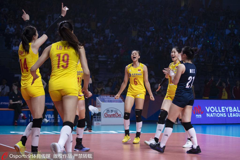 女排亚锦赛中国二队3-0横扫哈萨克 锁定四强席位
