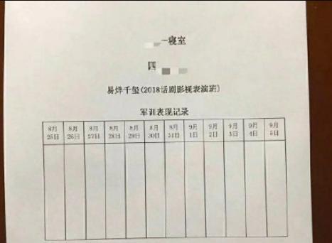 易烊千玺参加军训现场图 易烊千玺参加军训时间表曝光有几天?