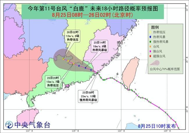 台风白鹿路径最新消息 白鹿来袭华南风雨强劲 海陆空交通受阻