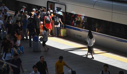 福建福州:铁路暑运迎来返程客流高峰
