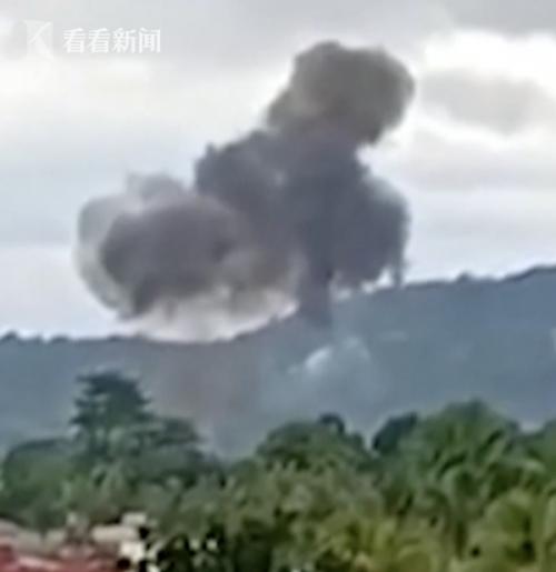 菲律宾一飞机坠落最新消息9人死亡!菲律宾一飞机坠落现场图曝光