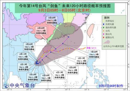 台风剑鱼2019最新消息 台风剑鱼实时路径图 台风剑鱼会在哪里登陆?