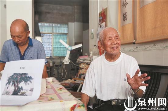 安溪九旬退休教师自创《养生经》 与人分享心得