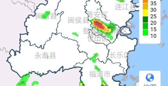 福州发布雷电黄色预警!市区一大波雨水正赶来
