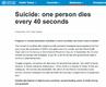 全球40秒就有1人死亡是怎么回事?男性自杀约为女性三倍原因首曝光