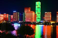 """庆祝第35个教师节 福州地标为老师""""亮灯"""""""