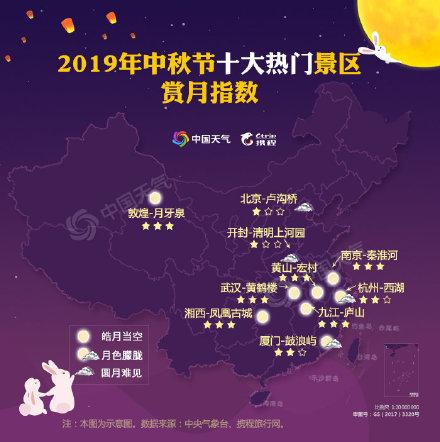 全国中秋赏月地图出炉 中秋节各地天气如何哪里能赏到圆月?
