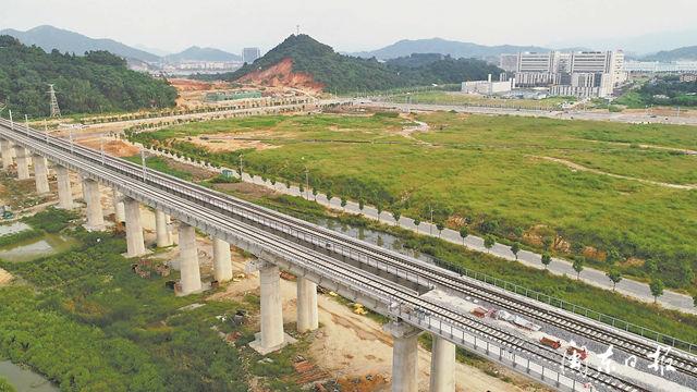 宁德汽车基地铁路专用线三乐特大桥铺架完成