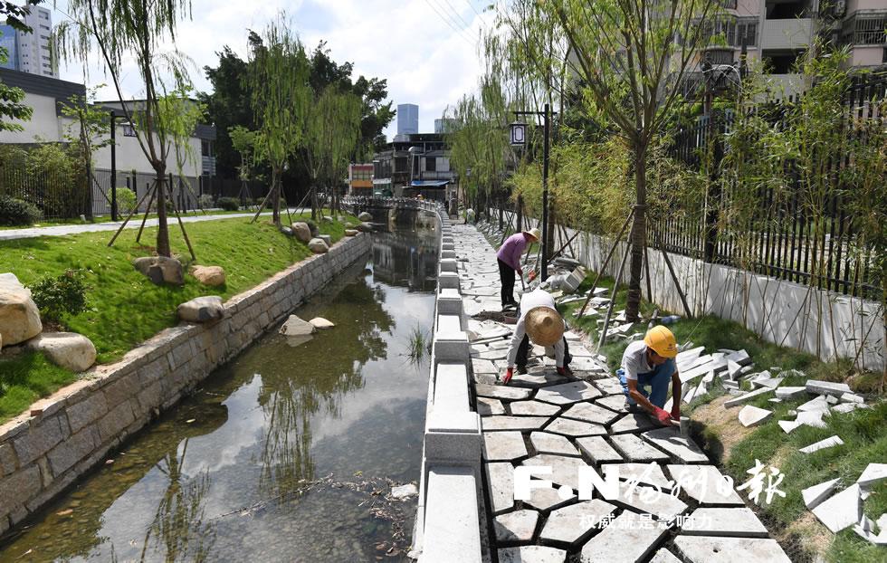 福州连潘河月底新颜迎客 水质绿化提升