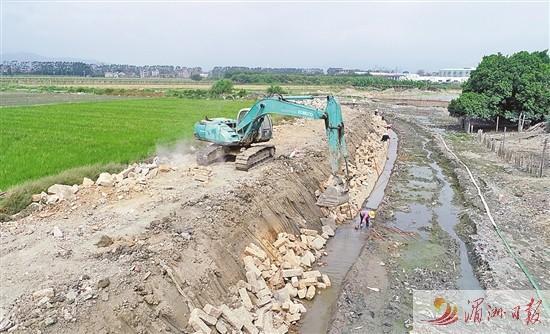 莆田荔城东郊河下游段建设加快推进 打造滨水休闲绿色廊道