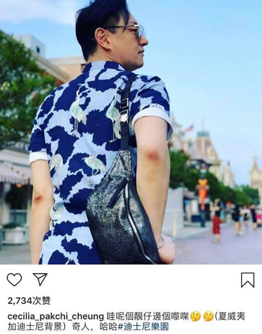 张柏芝晒男子背影:三胎父亲吗到底怎么回事