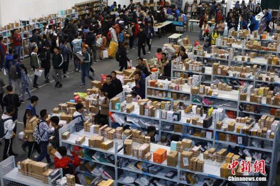 中国包裹快递量已超美、日、欧等发达经济体总和