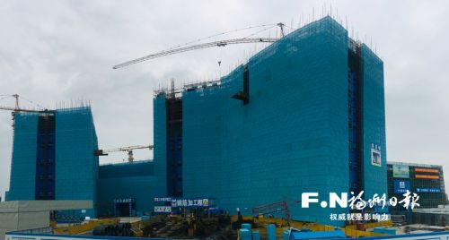 福州滨海新城综合医院(一期)月底封顶