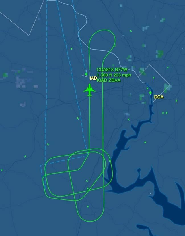 国航一客机起飞后引擎起火 成功返航顿杜勒斯