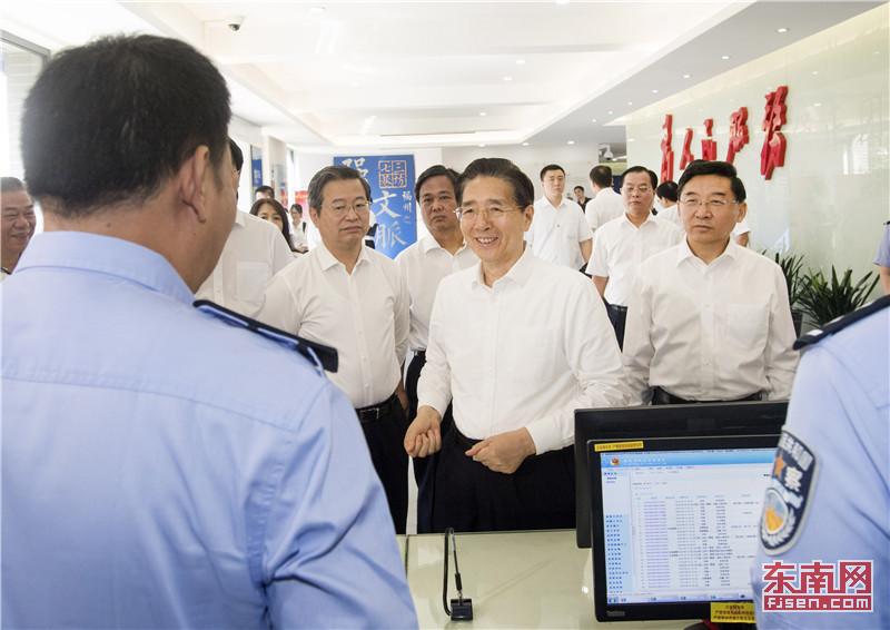郭声琨在福建调研时强调:用为民服务的实际行动践行党的初心和使命