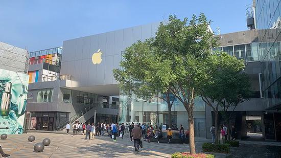 北京三里屯Apple Store(记者摄)