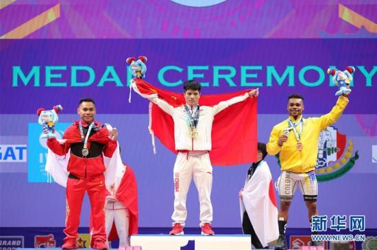 (体育)(8)举重——世锦赛:李发彬破纪录霸气夺金