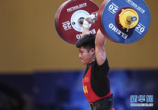 (体育)(6)举重——世锦赛:李发彬破纪录霸气夺金