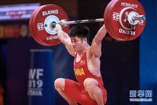 (体育)(2)举重——世锦赛:李发彬破纪录霸气夺金