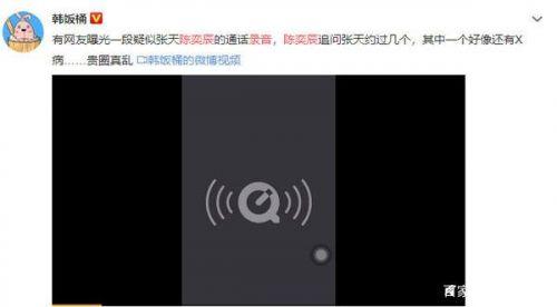 疑似张天陈奕辰通话录音在哪里听?张天说了什么网友炸了!