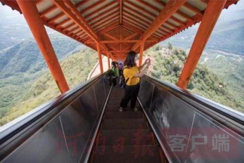 河南首条爬山扶梯怎么回事?河南为什么建设爬山扶梯照片曝光